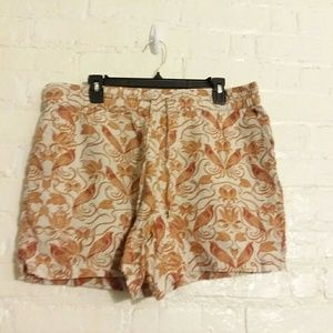 Anthropologie linen shorts Large